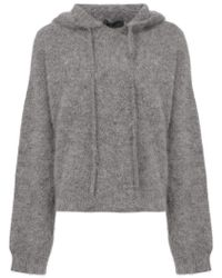 RTA - Knitted Hoodie - Lyst