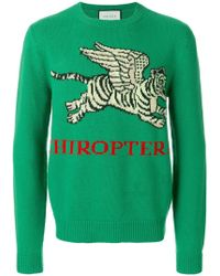 Gucci - Flying Tiger Sweater - Lyst