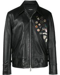 DSquared² - Embellished Leather Jacket - Lyst