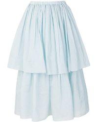 Sara Lanzi - Tiered A-line Skirt - Lyst