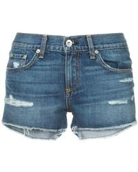 Rag & Bone - Skinny-fit Denim Shorts - Lyst