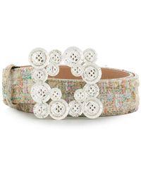 Blumarine - Bouclé Button Buckle Belt - Lyst