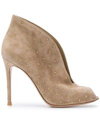 Gianvito Rossi - Studded Open Toe Boots - Lyst