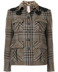 Antonio Marras - Contrast Collar Check Jacket - Lyst