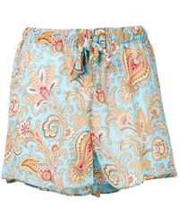 Etro - Paisley Shorts - Lyst
