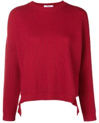 Blugirl Blumarine - Lateral Straps Ribbed Jumper - Lyst