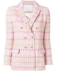 Giada Benincasa - Double Breasted Tweed Jacket - Lyst