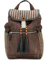 Etro - Woven Paisley Backpack - Lyst