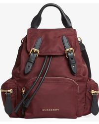 Burberry - The Crossbody Rucksack In Nylon And Leather - Lyst