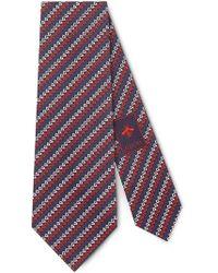 Gucci - Corbata de Seda con G Cuadrada - Lyst
