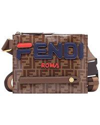 Fendi - Mania Logo Messenger Bag - Lyst
