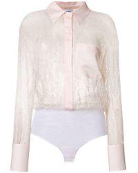 Dondup - Sheer Lace Shirt - Lyst