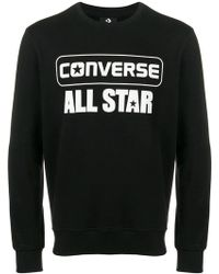 Converse - All Star Logo Print Sweatshirt - Lyst