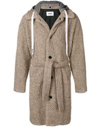 MSGM - Hooded Coat - Lyst