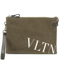 Valentino - Garavani Vltn Logo Clutch Pouch - Lyst