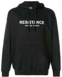 Andrea Crews - Logo Patch Hooded Sweatshirt - Lyst