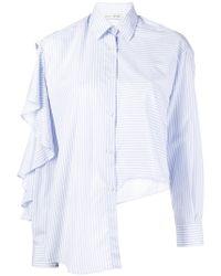 Each x Other - Ruffled Striped Shirt - Lyst