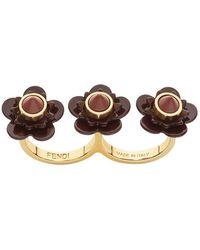 Fendi - Flowerland Double-finger Ring - Lyst