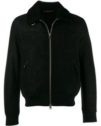 Stewart - Leather Bomber Jacket - Lyst
