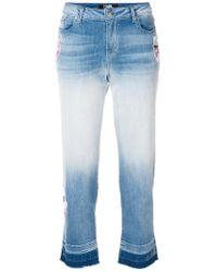 Karl Lagerfeld - Patch-appliqué Ombré Cropped Jeans - Lyst