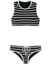 Osklen - Striped Knit Bikini Set - Lyst