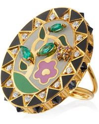 Holly Dyment - 18k Gold And Diamond Flower Ring - Lyst
