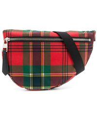 Alexander McQueen Tartan Print Belt Bag