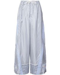 Sacai - Striped Wide-leg Trousers - Lyst