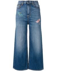 Vivetta - Dragonfly Embellished Cropped Jeans - Lyst