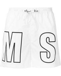 MSGM - Branded Swimming Shorts - Lyst