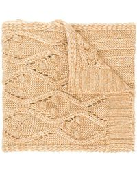 Twin Set - Cable Knit Scarf - Lyst