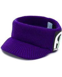 Prada - Ribbed-knit Visor - Lyst