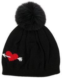 Boutique Moschino - Intarsia Heart Beanie - Lyst