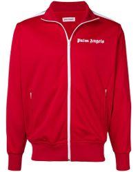 Palm Angels - Sportjacke mit Logo-Print - Lyst