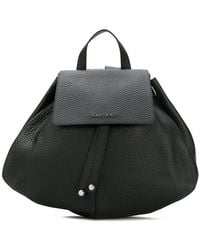 80d8ea4babbd Sophie Hulme Round Leather Backpack in Black - Lyst