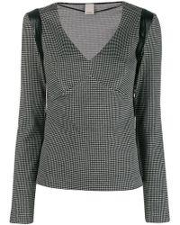 Pinko - V-neck Striped T-shirt - Lyst