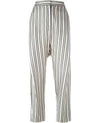 Alberto Biani - Striped Trousers - Lyst