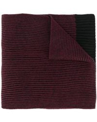 Lanvin - Logo Patch Knitted Scarf - Lyst