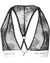 8dbc4e045d Fleur Du Mal Black Kilian Edition Lace Triangle Bralette in Black - Lyst