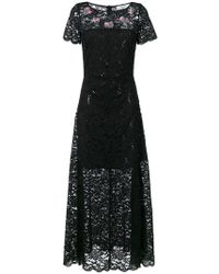 Blugirl Blumarine - Long Lace Flared Dress - Lyst