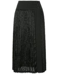 En Route - Pleated Fur Skirt - Lyst