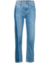 Calvin Klein Jeans - High Rise Straight Jeans - Lyst