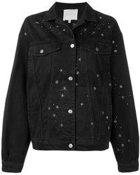 Amen - Bead Embroidered Denim Jacket - Lyst