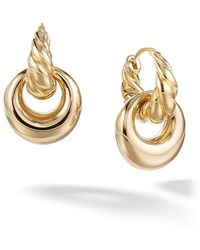 David Yurman - 18kt Yellow Gold Pure Form Drop Earrings - Lyst