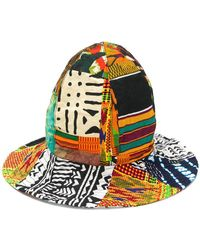 Engineered Garments - African Print Patchwork Dome Hat - Lyst