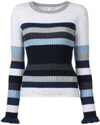 Autumn Cashmere - Striped Rib Knit Jumper - Lyst
