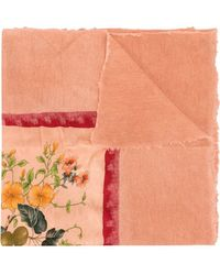 Avant Toi - Floral Print Scarf - Lyst