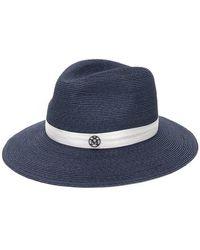 e59cf502042f9d Lyst - Maison Michel Henrietta Rabbit Fur Felt Hat in Pink