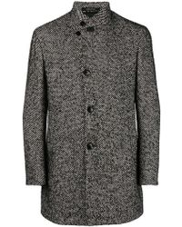Tagliatore - Chimney Neck Coat - Lyst
