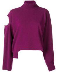 Erika Cavallini Semi Couture - Asymmetric Cut Out Sweater - Lyst